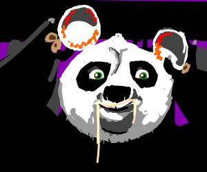 Chinese warrior panda