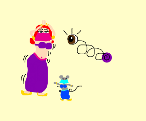 dancing girl and mouse with ball w/ popped ey