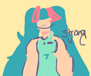 Miku with thicc muscles