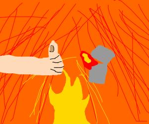 Boy Objectively Starts the Fire