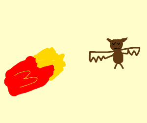 Bat dies of a french fry allergy