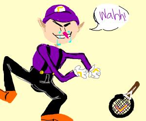 Waluigi loses a game of tennis