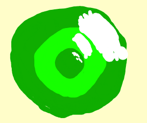 Green bubble in a green bubble in a green bub
