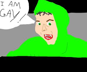 green meme guy
