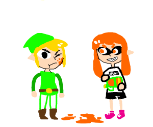 Link was slightly inked by an inkling