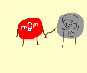 red M&M and Dime are BFFs