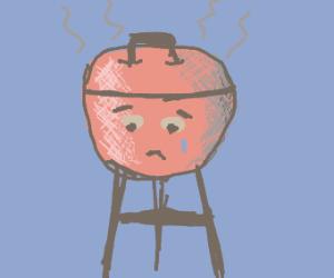 A sad grill