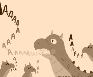 "Dragon yells ""aaaah!"""