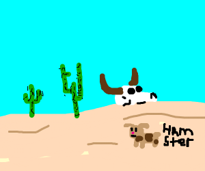 Hamster In A Desert