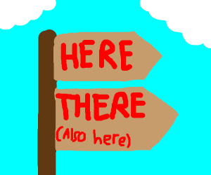 """""""here is there"""""""