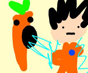 carrot consumes goku's power