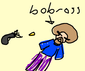 Bob Ross gets shot