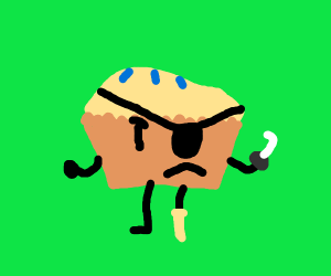 Sir Troublemuffin the blueberry muffin pirate