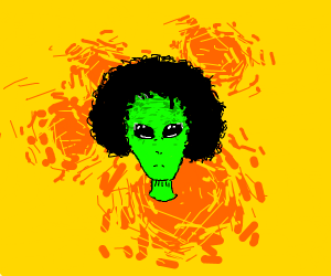 Alien with an afro