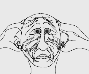 depressed dobby (from harry potter)