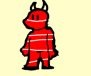 the devil but with white stripes