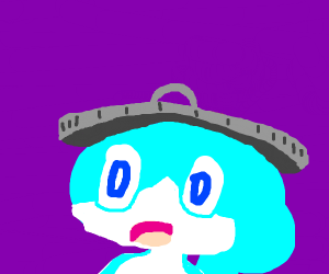 Sobble with a trash can lid