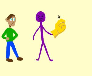 Stick man Thanos snaps