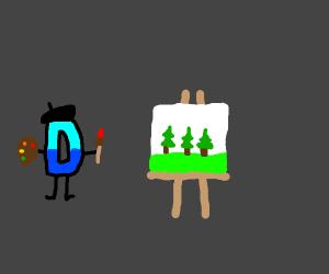 Drawception logo is painting