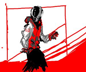 Man inside a robot