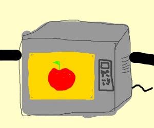 Mirowaving an entire apple