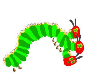 3 headed hungry caterpillar