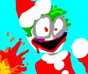 The Joker is now Santa Claus