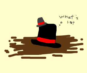 tophat wearing a tophat thinks to itself