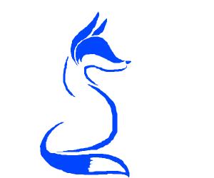 a blue fox