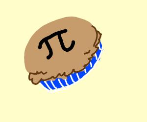 Pi symbol on a pie