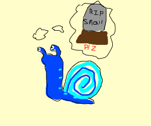 Blue snail wants to die?