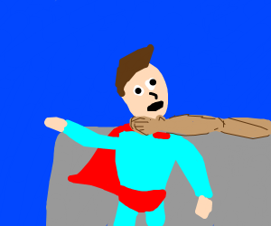 Grabbing Superman by the neck