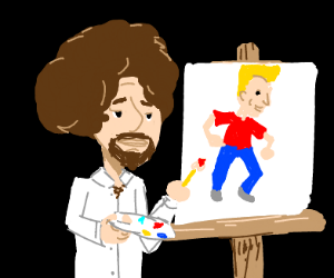 bob ross draws jazza draws bob ross