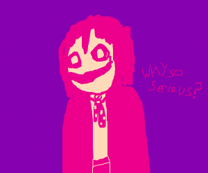 The Joker, but made of bubblegum?
