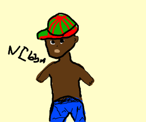 black man wearing red and green hat