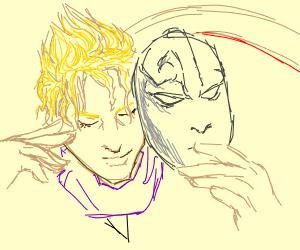 Dio having the stone mask (JOJO's)