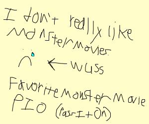 Favorite Monster Movie PIO