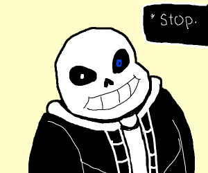 sans undertale blocks your way