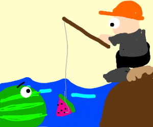 Fishing for a Watermelon