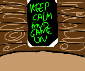 One of those Keep calm and game on posters