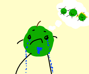 Mr. Green Apple's sad cause his family died