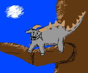 goat diosaur on a branch
