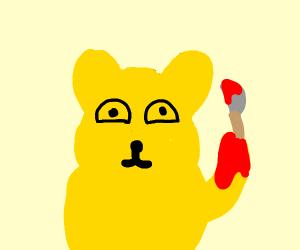 Evil yellow bear