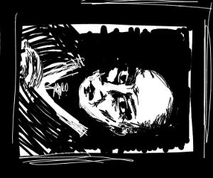 Sideways Portrait Of A Man