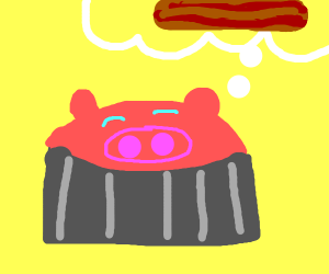 Peppa Pie (not Pig) thinks about Bacon