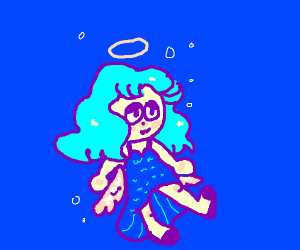 I don't know, blue sea with ocean angel