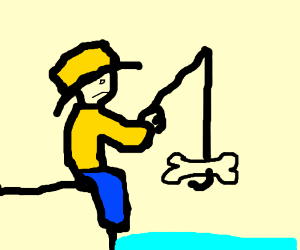 Fisher finds a bone while fishing