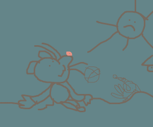 a smol mouse watching the sun set