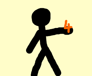 Man holding number 4