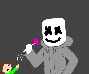 marshmello steals candy